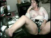 Mature busty bitch masturbating on web cam
