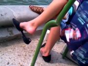Candid Blonde Flat Dangling by Water Pt 1