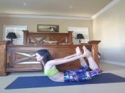 Danica McKellar yoga demo
