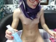 Super skinny teen in hijab