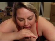 Teen Chubby Ex Girlfriend blowjob and swallowing cum