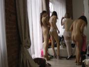 Voyeur video from casting models.