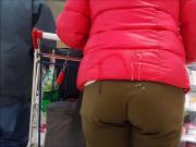 cum on brown pant butt in public