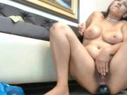 Busty MILF anal toying and multiple squirting