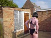 Tranny in a swimsuit NSA swimsuit part 2