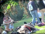 pantyhose upskirt in park