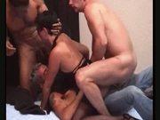 French slut and 3 men