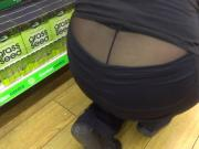 Shopworker Displays Sexy Ass