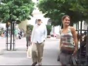 Girl flashing and pissing in public Part 1