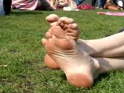 Candid Awesome Toe Feet Rubbing Dirty Soles