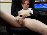 Mallory Redheaded Teen Office Slut