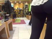 Brunette yoga pants