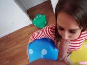 Real tiny teen cocksucks upside down