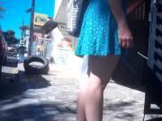 Gostosinha novinha de vestido