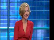 Rachel Riley - Sexy Cleavage In Red Dress