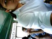 girl touching dick in bus