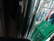 Thick latina and bbw ebony at supermarket