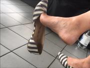 Dandling ballerina nice feet
