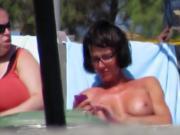 Topless babe in Agia Marina, creta 4