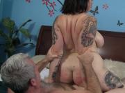 Cock hungry BBW Marilyn Mason hardcore sex