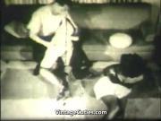 Lucky Dude Fucks Women in Orgy 1960s Vintage