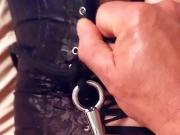 Bondage anal hooking doggy