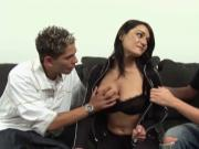 MILF Sami Scott fucked by two students