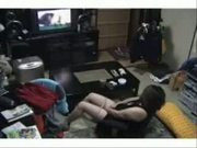 My mom masturbating watching a porno