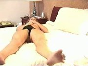 Blonde Masturbating in her Black Panties
