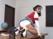 Mika Tan in white panties FM14