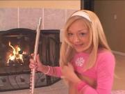 blonde teen and her flute