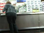 Red Head Fat Bottom Gilf in grey slacks part 2 of 2