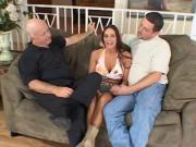 Dude lets pornstar bang his wife in the ass