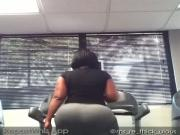 Rethickulous ass on treadmill