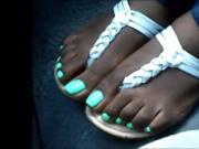 Hood Chick Green Toenails