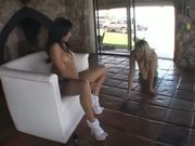 2 Hot Girls Strip Outside And Play With Dildos