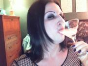 Naughty never tasted so nice.goth fem boy glass of cum