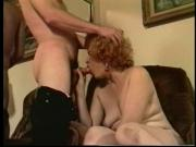 Vintage Grandmom Fucking Hard On The Couch