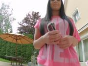 Givemepink dark haired girl toys herself