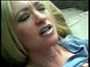 Hot blonde slut spreads legs and gets her pussy licked poolside then gets fucked