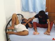 Asian trio with amateurs assfucking