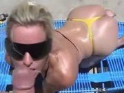 Wanking-off on Her #2 Blonde Babe