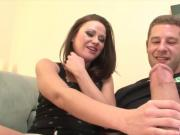 Sindee gets a 2 HANDFUL'S of MASSIVE Vanilla cock!