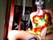 Shaye Rivers Halloween Clown Masturbation