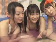 Japanese girls have fun with soap