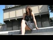 lovely teen upskirt in Paris