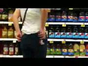 My Slut flashing at the store