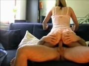 HOMEMADE MILF TAKES ONE IN THE ASS