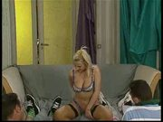 Georgette Neal threesome in yellow stockings