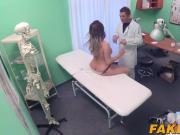 Busty brunette Victoria gets drilled hard by her doctor